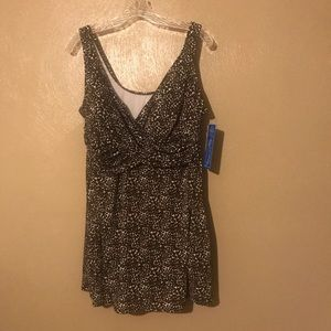 Catalina swimsuit brown/white  size 3X